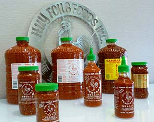 Line up of Huy Fong Foods products