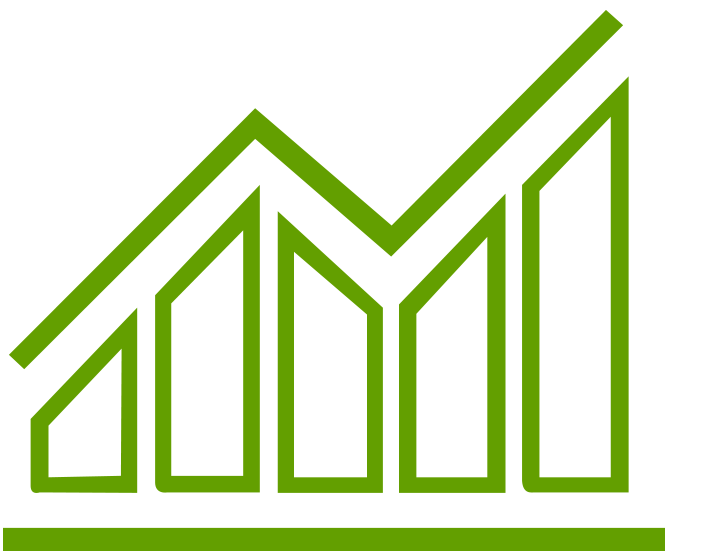 Green icon graph chart